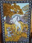 RARE Vintage UNICORN Tapestry Wall Art Hanging Decor ATC NY  ~38x55