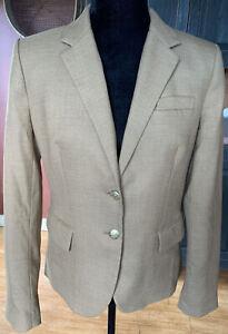 J.Crew Schoolboy Blazer Wool Blend Tan Style 92480 Size 6
