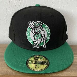 NWT New Era Boston Celtics Hardwood Classics NBA 59Fifty Fitted Hat Size 7 1/4