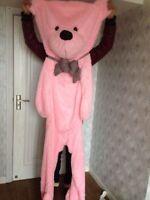 New 200cm Big Pink Teddy Bear Plush Doll Skin Semi-Finished Products Soft Toy UK