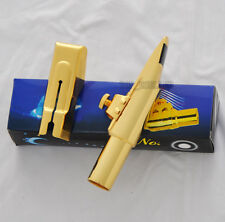 sale promotion!! 2018 Top Gold Plated Eb Baritone Saxophone Metal Mouthpiece new