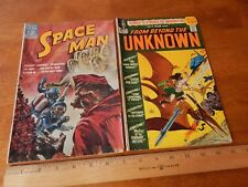 Space Man #4 (Mar-May 1963, Dell) + From Beyond The Unknown #12 (Sept, 1971, DC)