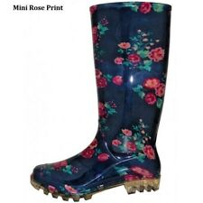 WOMEN UNLINED FLORAL PRINT RUBBER RAIN BOOTS  5 6 7 8 9 10 11
