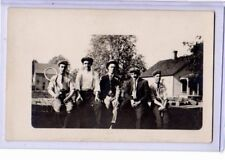 Real Photo Postcard RPPC - Young Men with Tennis Racquets - Sports