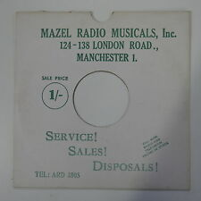 """78rpm 10"""" card gramophone record sleeve / cover MAZEL radio musicals  manchester"""