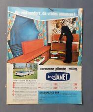 PUB PUBLICITE ANCIENNE ADVERT CLIPPING 150917 / CARAVANE PLIANTE ANDRÉ JAMET