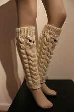 Spring SALE Owl leg warmers boot cuffs ballet dance by IrinaKdesigns