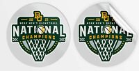 2021 BAYLOR BEARS NATIONAL CHAMPIONS VINYL DECAL NCAA MEN'S FINAL FOUR CHAMPS