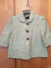 Ladies Smart Cropped Green Jacket Size 10