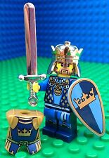 Lego CASTLE KING Gold Crown Armour Minifigs Figure 7078 Kingdoms Silver Sword