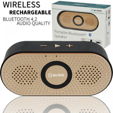 Portable Mini Wireless Bluetooth Speaker Stereo Rechargeable MP3 Mic - Gold