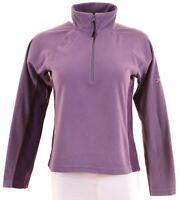 BERGHAUS Womens Fleece Jumper Size 10 Small Purple Polyester  AU13