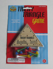 Tricky Triangle Game Classic Peg Jumping Game Party Favor SolitairePuzzle Toy
