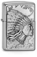 Zippo Lighter ● Indian Head Indianer ● 2003536 ● Emblem ● Neu New OVP ● A731