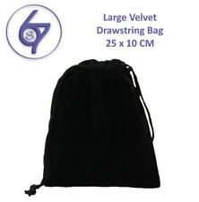 Large Black Velvet Drawstring Bag Pouch Jewelry  Glass Ball Holder Bag 10*25cm