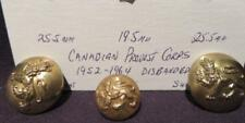 Canadian Provost Corps Post-WWII Trio of Brass Buttons