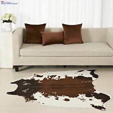 LARGE Cowhide Rug Cow Skin Hide Leather Carpet Faux Animal Print Office Bed Room