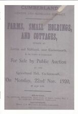 Nr Cockermouth-Lorton Farms, Small Holdings, & Cottages for sale in the 1920's.