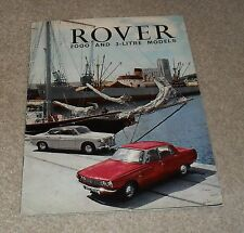 Rover 2000 & 3 Litre Saloon & Coupe Brochure 1966-1967 -
