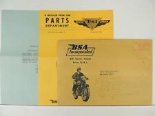 Vintage 1960 Ariel Parts Price Increase Flyer BSA L1686