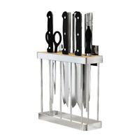 Knife Block Cutlery Storage Shelf Stainless Steel Good ventilating Knife Storage