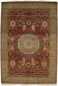 Handmade Geometric Design Mamluk 6X9 Orange-red Oriental Area Rug Decor Carpet