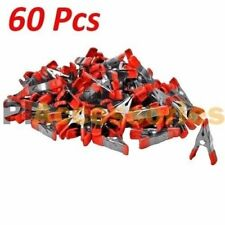 60x 2 inch Mini Metal Spring Clamps w/ Red Rubber Tips Tool LOT of 60 Pcs Pack