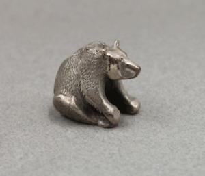 S. Kirk & Son Sterling Silver Miniature Bear Sitting Figurine