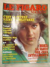 Le Figaro  magazine DECEMBRE 1980 LADY DIANA KADAHAFI