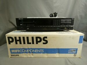 Philips Compact disc CD player CD634 black boxed with manual