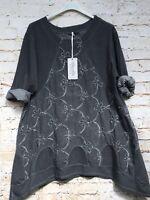 Moonshine Fashion Winter Lagenlook Cord Tunika Übergröße 44 46 48 Neu A-Linie