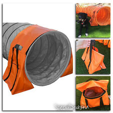 Dog Agility Tunnel Training Outdoor Pet Runner Equipment Exercise Puppy Open New