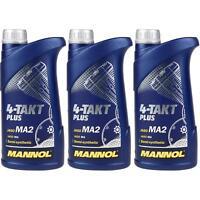 3x1 Liter Original MANNOL Motoröl 4-Takt Plus 10W-40 Motorradöl Bike Oil
