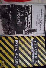 2 PETER HOOK BOOKS - UNKNOWN PLEASURES (INSIDE JOY DIVISION) & THE HAÇIENDA
