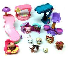 THE LITTLEST PET SHOP animal toy figures & large accesory set lot, NICE!