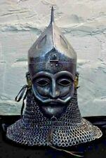 16 Gauge Steel Medieval Knight Mask Ottoman Empire Helmet With Chainmail
