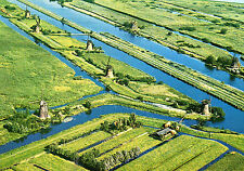 Postcard  Europe  Holland Panorama Molens Kinderdijk unposted