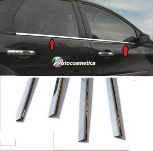 Modanature 4 Cornici Profili Acciaio Cromo Finestrini porte FORD FOCUS II 04-10