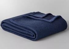 Solid Sweater Fleece Bed Blanket Made By Design Blue King Size