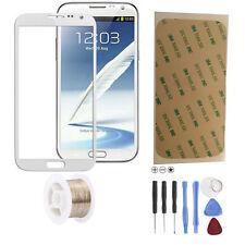 Samsung Galaxy Note 2 N7100 LTE Glas Scheibe Front Touch Glass Touchscreen Weiß