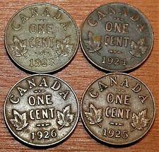 1923 1924 1925 1926 Canada King George V Small Cent Pennies - Key Dates!