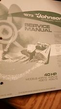 1973 40 HP Johnson outboard service manual