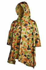 Auscam Poncho Military 200x127cm PU Coated and Taped Seams Waterproof TAS