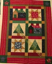 Little Quilts Christmas Quilt Wallhanging Sampler Cotton fabric panel 16x20