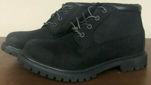 Timberland Nellie Black Women's 7 Wide Double Waterproof Ankle Boot 23398