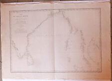 Carte marine nautical map golfe du Bengale Inde Ceylan Malacca Sumatra  XIXème