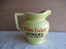 älterer Whiskey Wasserkrug Krug jug Dewar's white label Scotch  Whisky Kanne