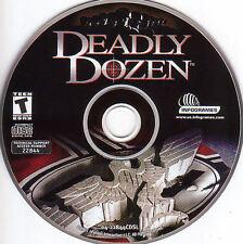 DEADLY DOZEN Classic Original Atari Shooter for Windows PC Game CDrom NEW
