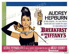 BREAKFAST AT TIFFANY'S LOBBY CARD POSTER HS 1961 AUDREY HEPBURN GEORGE PEPPARD
