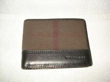 100% AUTHENTIC BURBERRY CHECK PATTERN BIFOLD BILLFOLD WALLET/CASE